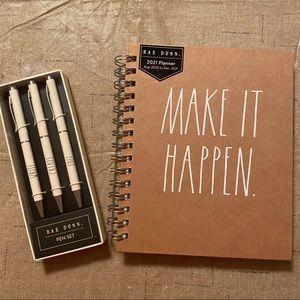 Rae Dunn MAKE IT HAPPEN Planner & Pen Set